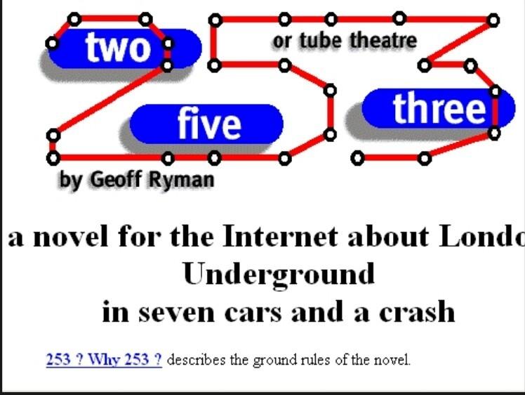 Figura 1- Logo da Home Page do romance hipertextual 253 (Fonte: www.ryman-novel.com)